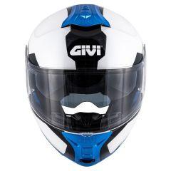 Givi Helm Modular Geöffnet X.21 Challenger Spirit weiß schwarz blau