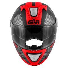Helm Modular Geöffnet Givi X.23 Sydney Protect Matt Schwarz Titan Rot