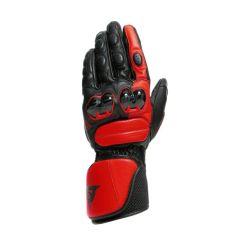 Guantes de Moto Hombre Dainese IMPETO Piel Negro/Lava-Rojo