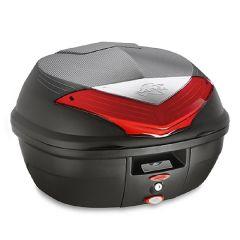 K355N - Kappa MONOLOCK Top-case 35 ltr. black with red reflectors