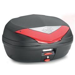 K466N - Kappa Baùl MONOLOCK Negro con catadriópticos rojos 46 Ltr.