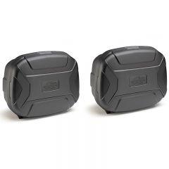 KVC35NPACK2 - Kappa Pair Of Cases MONOKEY® K'VECTOR 35 Lt black cover