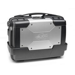 KGR33 - Kappa MONOKEY® Topcase GARDA 33 L. Koffer schwarz Cover in Alu-Farbe