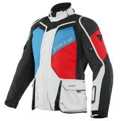 Veste De Moto Homme Dainese Gore-Tex D-Explorer 2 Noir Gris Bleu Rouge-Lava