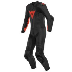 Leather Suit Dainese Laguna Seca 5 1PC Summer Black/Fluo-Red