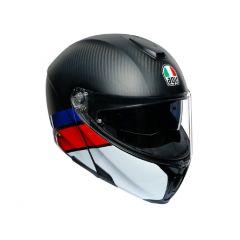 Integral Klapphelm Agv Sportmodular Layer Carbon Rot Blau