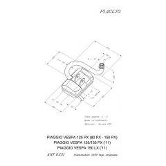0231 - Silencieux Leovince Sito 2 T VESPA 80 PX VESPA 125 PX VESPA 150 PX