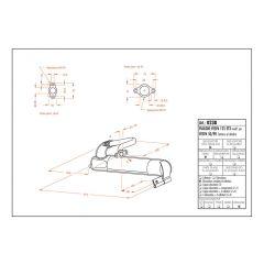 0238 - Muffler Leovince Sito 2-STROKE VESPA 50 VESPA 90 VESPA 125 ET3