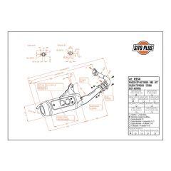 0554 - Muffler Leovince Sito 2T Gilera STORM TYPHOON Piaggio NTT ZIP FAST RIDER