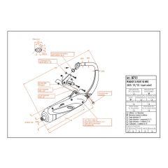 0711 - Silencieux Leovince Sito 2 Temps Peugeout X-FIGHT 50 WRC