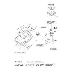 0742 - Exhaust Leovince Sito 4T LML STAR 4 125 / STAR 4 150