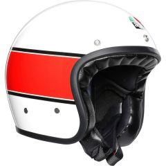 Helm Jet Agv Legends X70 Mino 73 Weiß Rot