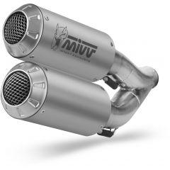 D.042.SM3X - Silencieux Echappement Mivv MK3 Inox DUCATI MONSTER 821 / 1200