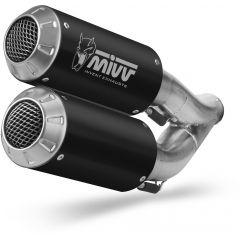 H.069.LM3B - Exhaust Mufflers Mivv MK3 STEEL BLACK HONDA CB 1000 R (18-)