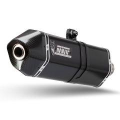 T.017.LRB - Exhaust Muffler Mivv SPEED EDGE STEEL BLACK TRIUMPH TIGER 1050 (17-)