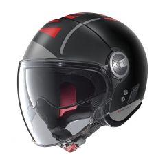 Helmet Jet Nolan N21 Visor Avant-Garde 73 Flat Black Red
