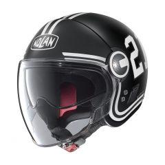 Helm Jet Nolan N21 Visor Quarterback 82 Matt Black