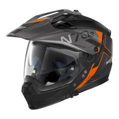 Helmet Full-Face Crossover Nolan N70.2 X BUNGEE N-COM 37 Flat Black
