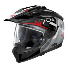 Helmet Full-Face Crossover Nolan N70.2 X BUNGEE N-COM 40 Scratched Chrome