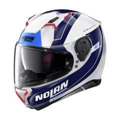 Helmet Full-Face Nolan N87 Skilled N-COM 99 Metal White