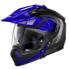 Integral helm Crossover Nolan N70.2 X DECURIO N-COM 32 Matt-Schwarz Blau