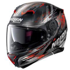 Helmet Full-Face Nolan N87 CARNIVAL N-COM 84 Matt-Black Red