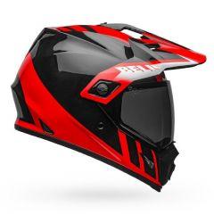 Integralhelm Bell MX-9 Adventure Mips Dash Glänzend Schwarz Rot Weiß
