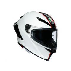 Casque Intégral Agv Pista GP RR Scuderia Carbon Blanc Rouge