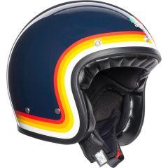 Helm Jet Agv Legends X70 Riviera Rainbow Blau