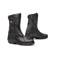 Schuhe Moto Forma Touring Leder Wasserdicht Lady ROSE HDRY Schwarz