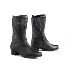 Chaussures Moto Forma Touring En Cuir Imperméable Lady Ruby Noir
