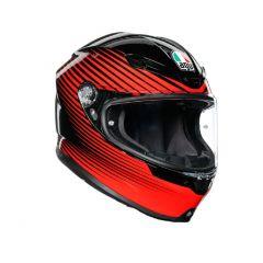 Helmet Full-Face Agv K6 Rush Black Red