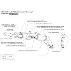 S-Y10SO6-HDTC/1 - Silencer Exhaust Akrapovic Slip-on Yamaha YZF-R1 04-06