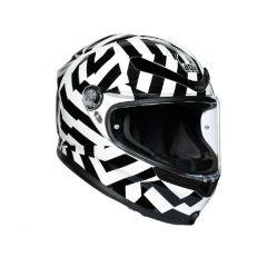 Helmet Full-Face Agv K6 Secret Black White