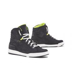 Schuhe Moto Forma Urban Leder Wasserdicht Swift Flow Schwarz Weiß