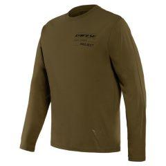 T-Shirt Adventure LS Dainese Military-Olive/Noir
