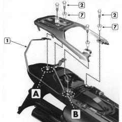 T213 - Givi Stahlrohr-Abstandshalter für Weichtaschen Honda XL 650V Transalp
