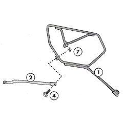 TE1101 - Givi Abstandshalter für EASYLOCK Satteltaschen Honda CB 1000 R (08>16)