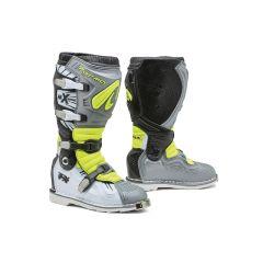 Stiefel Forma Off-Road Motocross MX Terrain TX Grau Weiß Fluo-Gelb