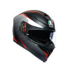 Helmet Full-Face Agv K-5 S Thunder Matt Black White Red