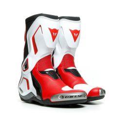 Botas Dainese Racing TORQUE 3 OUT AIR Negro Blanco Rojo-Lava