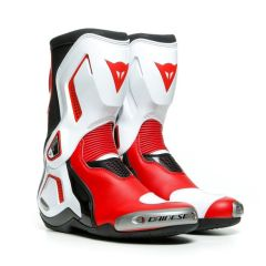 Bottes Racing Dainese TORQUE 3 OUT Noir Blanc Rouge-Lava