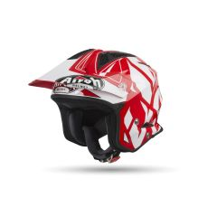 Helmet Jet On-Off Airoh Trr S Convert Red Gloss