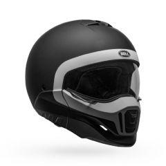 Helmet Full-Face Bell Broozer Cranium Matt Black White