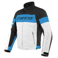 Veste de moto Homme Dainese SAETTA D-DRY Noir Bleu Blanc