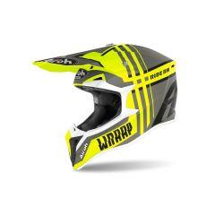 Helmet Full-Face Off-Road Airoh Wraap Broken Yellow Matt