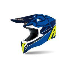 Helmet Full-Face Off-Road Airoh Wraap Mood blue gloss