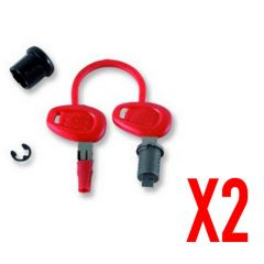 Z227 - Givi Set for 2 key locks with corresponding bush with red handle