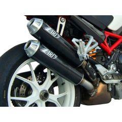 ZD024HSO-1 - Exhaust Mufflers Zard Overlapped Carbon Ducati Monster S2R (06-08)
