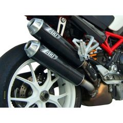 ZD024HSR-1 - Exhaust Mufflers Zard Overlapped Carbon Ducati Monster S2R (06-08)